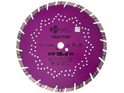 Диск алмазный 350 мм турбо-сегментный по ж/б, бетону, кирпичу TRACTOR