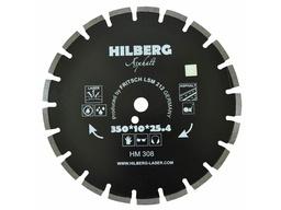 Диск алмазный 350*25,4 сегментный по асфальту HILBERG