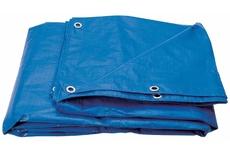 Тент ПЭ  6 x 8м (180г/кв.м.) синий/серебро