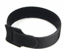 Хомут-липучка на основе ленты Velcro 14*150, чёрный, 12 шт