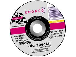 Отрезной круг по  алюминию125х1,2х22 DRONCO