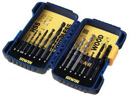 Набор разных сверел 15шт HSS Pro 2-8мм, Cordless 4-8мм, Twist 3-8мм IRWIN