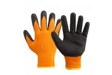 Перчатки утеплённые из акриловой пряжи HI-Vision текстур. латекс, ТОРРО