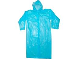 Дождевик ПВД голубой с застежками, ширина 70 см. длина 118 см.