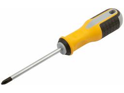 """Отвертка """"Стайл-2"""", CrV жало, пластиковая прорезиненная ручка 6х100 мм PH2"""