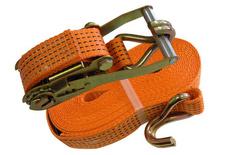Ремень стяжной с автоматической пряжкой, лента-50 мм.,длина-8 м.,2,5/5т.