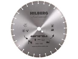 Диск алмазный 400*25,4*12 сегментный по арм.бетону HILBERG