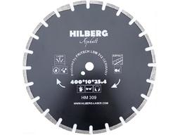Диск алмазный 400*25,4*12 сегментный по асфальту HILBERG