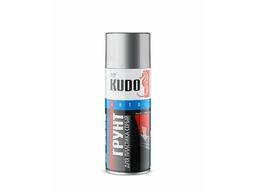 Грунт-эмаль для пластика серая 520мл KUDO
