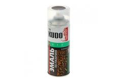 Эмаль молотковая по ржавчине серебристо-коричневая 520мл KUDO