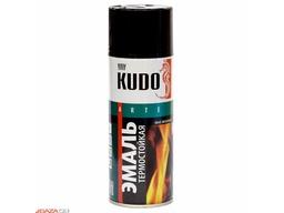 Эмаль термостойкая черная 520мл KUDO
